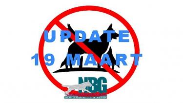 Maatregelen mbt Coronavirus update 19 maart / alle evenementen april/mei gecanceld.