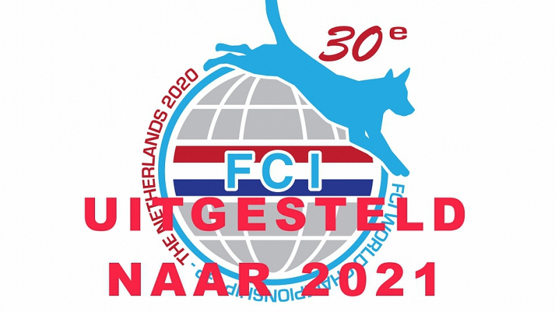 FCI WK 2020 uitgesteld naar 2021